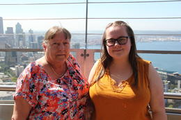 Kim and Paige at the top of the Space Needle. , John G - July 2017