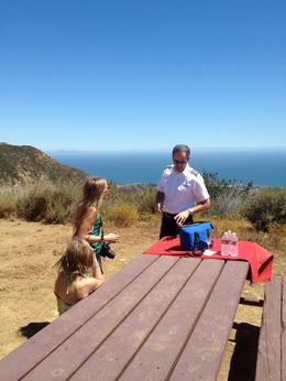 Cold water and champagne at private spot in the Malibu Hills, Dave H - July 2012