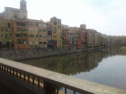 Beautiful buildings along the river in Girona , Lika L - June 2016