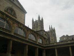 Bath Abbey from inside the Roman Baths , Erica M - April 2012