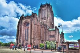 Liverpool has 2 cathedrals. Photographed here is the Anglican cathedral of Liverpool. , David Lally - September 2015