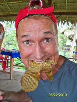 One of the highlights is the stop in the village to have lunch - elephant ear fish. The meal was beautifully prepared and served. And the fish was tasty!, Kevin S - July 2010