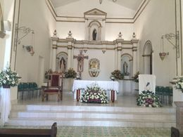 Inside of the Mission Church , Becky R - August 2015
