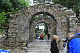 This is the entrance to the Monastic City in Glendalough. , Destini K - November 2012