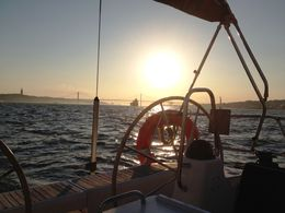Sunset on the Tejo! A great experience in Lisbon, what memories ! , Katharina K - October 2015