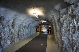 Train Tunnel stop at Eismeer on the way to Jungfraujoch, located at 10,368 ft. , Claudia - December 2015