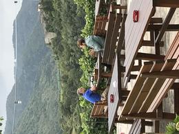 Gritsch Vineyards - enjoying wonderful white wine and conversation , Gary G - September 2017