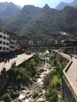 View of Aguas Calientes, almost to Machu Picchu!, Bandit - September 2016