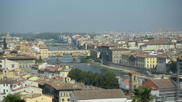 An overview of Florence showing the River Arne and Ponte Vecchio , Scott F - September 2012