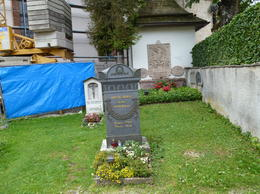 Extremely old man buried in Berchtesgaden Cemetery (pointed out by tour guide) , D A P - August 2013