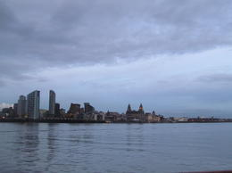 once look to liverpool city while ferry on boat in Merseyside .. , bishwo - March 2013