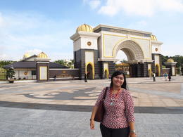 I was standing in front of King Palace gate. , Chitraning W - June 2014
