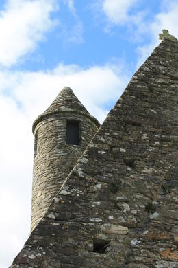 Part of the ruins of the Monastic City in Glendalough. , Destini K - November 2012