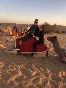 Had fun on a short camel ride at sunset , Lisa F - January 2016