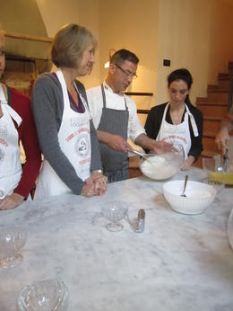 Showing perfect form for whipping egg whites , Lauren S - March 2012