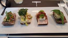 One of our first stops was to try the typical open sandwiches - delicious! , Ian L - May 2017