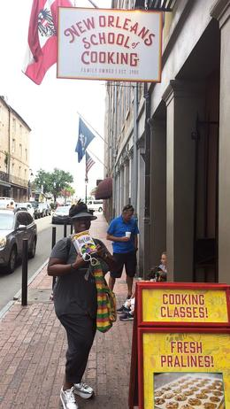 New Orleans School of Cooking Last stop, where we bought King Kake , Sybil S - September 2017