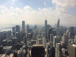 View of Willis Tower and the Chicago Skyline from 360 Chicago at the John Hancock building., lgs888 - June 2014