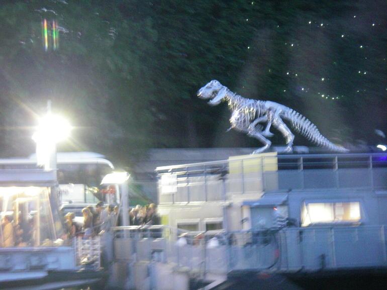 Dino auf der Seine in der Nacht - Paris