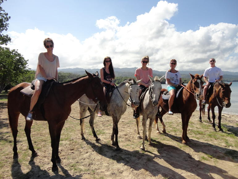Dunn's River Falls and Beach Horseback Riding Tour - Montego Bay