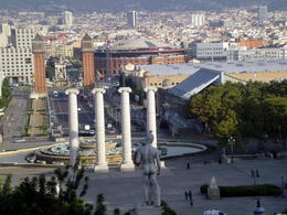 Across from the National Museum of Catalunya is a wonderful viewing area of Barcelona and below is the and quot;Plaza de Espana and quot; which unfortunately, we did not have time to visit. , franny - October 2013