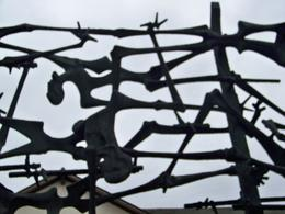 prisoners went mad and hurled themselves at electric fences. This is their memorial, Juanita E - November 2009