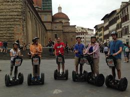 We were having some trouble with the segways so we stopped to practice. The boys were zipping around and having a great time, and the girls tried to keep up. My sister and I tried to keep our..., Joan T - July 2014