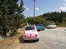 The three little Fiat 500's used on our tour! , Tony J - August 2017