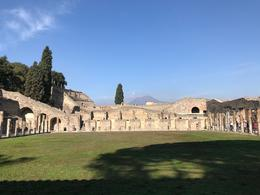 The gladiator school at Pompeii, with Mt. Vesuvius looking down. , Gary L - October 2017