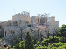 View of Acropolis taken on the ride. , Carolyn G - August 2015