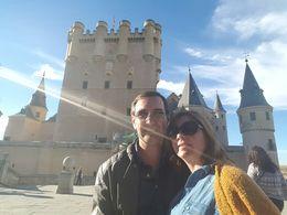 Gabriela y Aldo, de Uruguay, recorriendo el Alcázar de Segovia. Deslumbrante , ALDO R - November 2015
