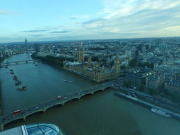 We went at dusk and the sky was pretty, the view spectacular. This is the River Thames, Big Ben and Houses of Parliament , G. Bowman - July 2015