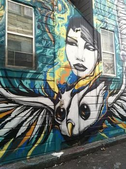 Intricate mural created by a San Francisco–based artist, KC - December 2014