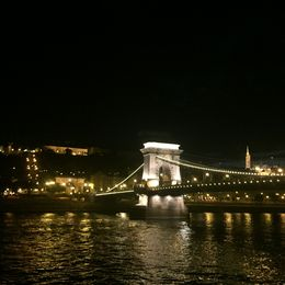 The Chain Bridge lights up after dark and is so beautiful from the boat. , ERIKA L - September 2015
