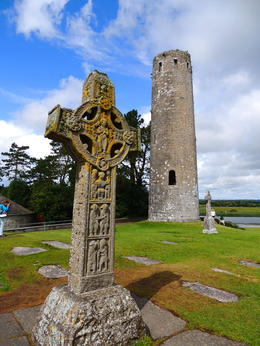 The Clonmacnoise monestary ruins on the way to Western Ireland. , Kevin F - August 2014