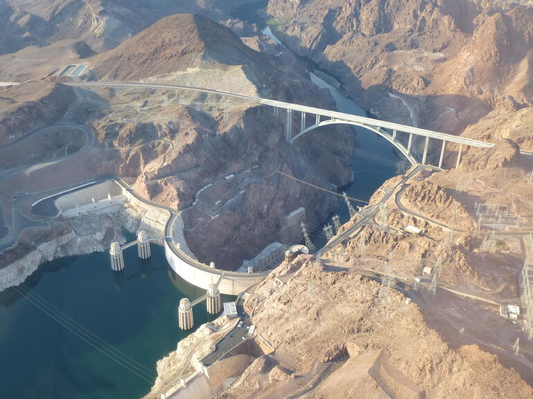 Hoover Dam from the Air - Las Vegas