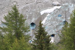 Stunning blue glacier ice and the cave , neelmani - October 2014