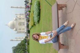 Mari Eli nos Jardins do Taj Mahal , MARI E L D - August 2015