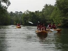 Kayaking on one of the wider waterways - May 2012