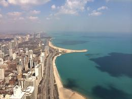 View of beautiful Lake Michigan from 360 Chicago at the John Hancock building., lgs888 - June 2014