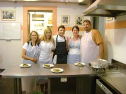 Our group with our fabulous chef, Christopher S - August 2010