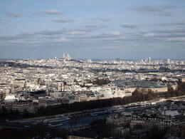You can see Montmartre in the distance, Rachel - March 2014