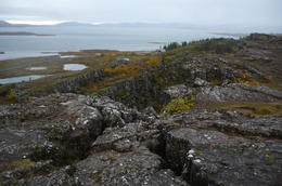 A small sign of a large phenomenon - sitting between two tectonic continental plates, watching the lake that I couldn't see when passing by it, because of the rain. , FULEA S - October 2011