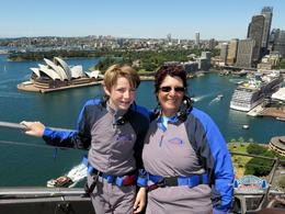 My grandson and me at the top of the bridge , Elaine P - June 2017