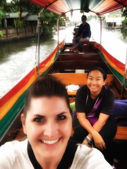 My guide Nina and I on a longtail boat ride on the canals , beth.moreland - December 2017