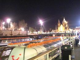 Night lights of Ansterdam and Cruise Boat , Carol A - May 2013