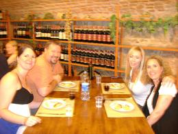 Our group enjoys our wonderful creations with a great bottle of wine, Christopher S - August 2010