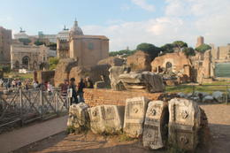 View of foro romano ruins , Lauren C - October 2014