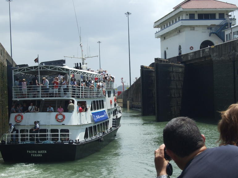 Inside the locks - Panama City