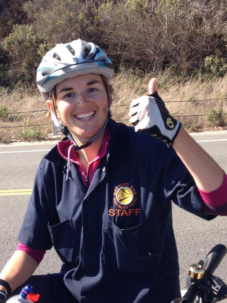 Our tour guide Mikaela - San Francisco